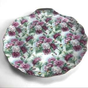 Vintage shabby roses tea party snack plate